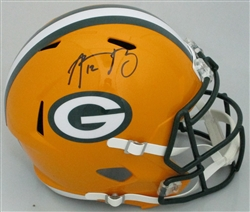 AARON RODGERS SIGNED FULL SIZE PACKERS REPLICA SPEED HELMET