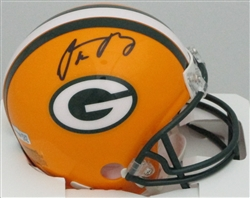 AARON RODGERS SIGNED PACKERS MINI HELMET - FAN