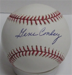 GENE CONLEY (d) SIGNED OFFICIAL MLB  BASEBALL