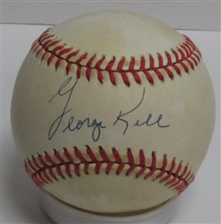 GEORGE KELL (d) SIGNED OFFICIAL AL BASEBALL - JSA