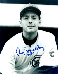 ROY SMALLEY (d) SIGNED 8x10 CHICAGO CUBS PHOTO #1