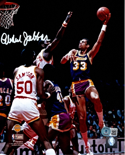 dd9f633f4 KAREEM ABDUL-JABBAR SIGNED 8X10 LA LAKERS PHOTO  2 - JSA