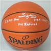 SIDNEY MONCRIEF SIGNED REPLICA SPALDING BASKETBALL W/ ALL STAR - BUCKS