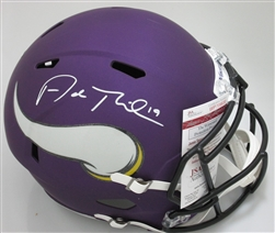 ADAM THIELEN SIGNED VIKINGS FULL SIZE REPLICA SPEED HELMET - JSA