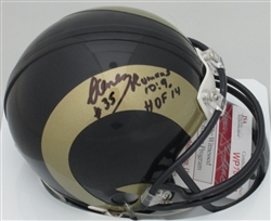 AENEAS WILLIAMS SIGNED RAMS MINI HELMET - JSA
