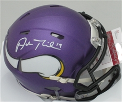 ADAM THIELEN SIGNED VIKINGS MINI HELMET - JSA