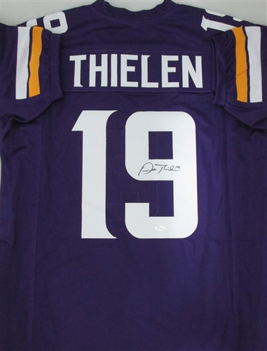 low priced 4edef f60eb ADAM THIELEN SIGNED CUSTOM VIKINGS JERSEY - JSA
