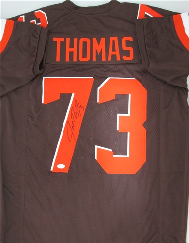 huge selection of 5fb0f b249f JOE THOMAS SIGNED CUSTOM BROWNS COLOR RUSH JERSEY - JSA
