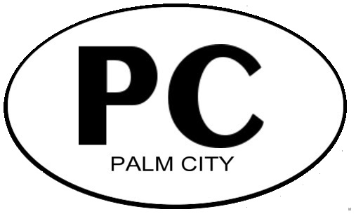 PALM CITY Oval Window Sticker