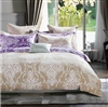 Hermmann Brown/Purple Damask 100% Cotton Reversible Comforter Set