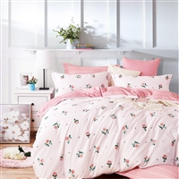 Isabella Rose Only 100% Cotton Reversible Duvet Cover Set
