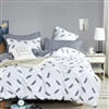Fleur White Feather 100% Cotton Reversible Comforter Set