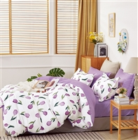 Emilee Purple Tulip 100% Cotton Reversible Comforter Set