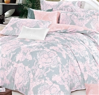 Lauren Pink Damask 100% Cotton  Comforter Set