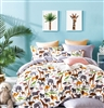 Fun Kids  100% Cotton Reversible Duvet Cover Set Queen/Full