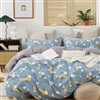 Rae Blue Floral 100% Cotton Reversible Comforter Set