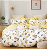 Lyra White Floral 100% Cotton Reversible Comforter Set