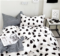 Berlin Heart Print 100% Cotton Comforter Set