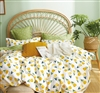 Leonie Yellow Tulip 100% Cotton Reversible Comforter Set