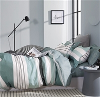 Lessen Striped 100% Cotton Comforter Set