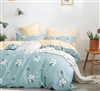 Vivian 100% Cotton Comforter Set ( Blue)