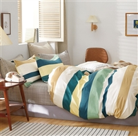 Lehmann Striped 100% Cotton Comforter Set
