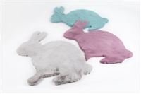 Audrey Lara Kids Rabbit Shaped Area Rug 3'*3'3""