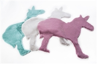 Audrey Lara Kids Unicorn Shaped Area Rug 3'*3'3""