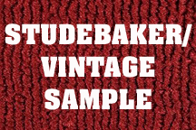 STUDEBAKER/VINTAGE Carpet Samples