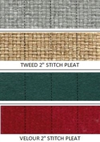 "Seat Cover Material <br> 2"" Stitch Pleated Cloth - Velour and Tweed <br> [ 1 YARD ]"