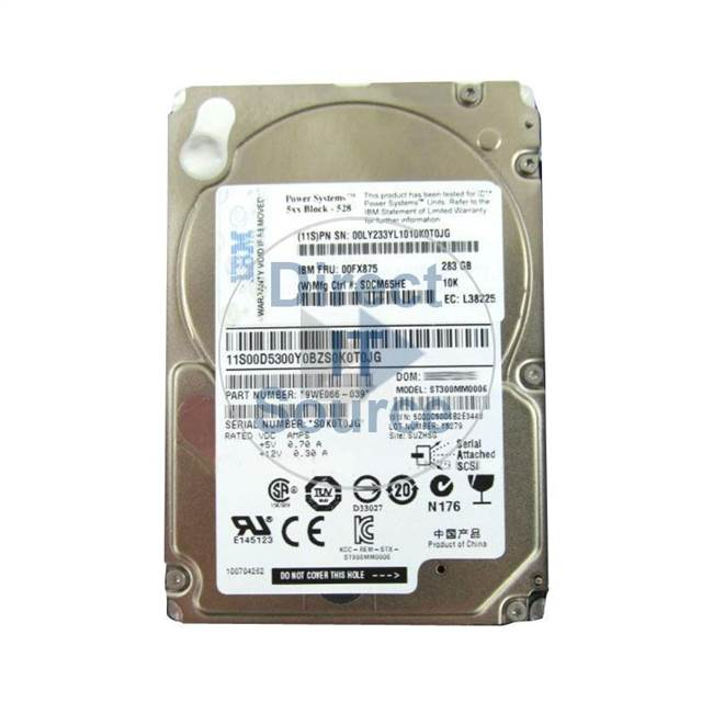 "00LY233 IBM - 283GB 10K SAS 2.5"" Cache Hard Drive"