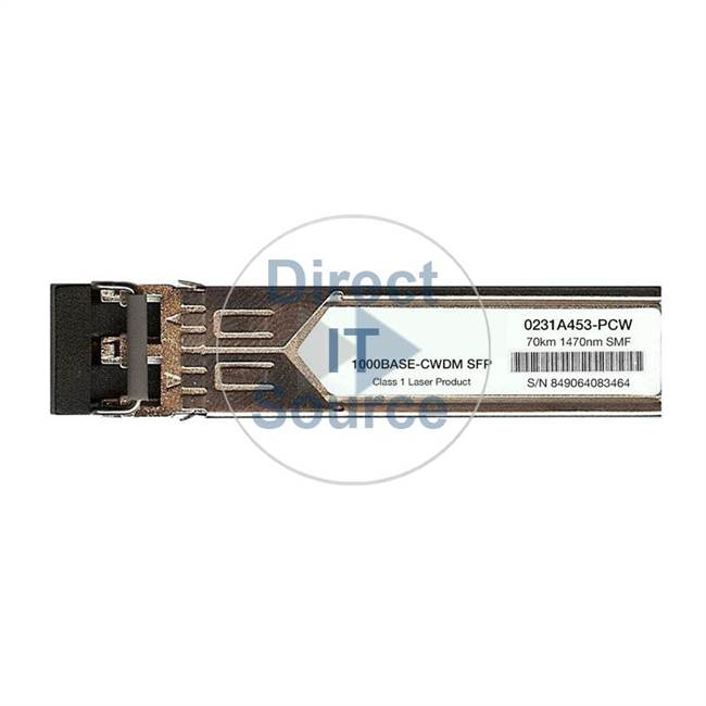 3Com 0231A455 - 1000Base-Lh70 CWDM SFP 1510Nm 70Km LC Transceiver Single Module