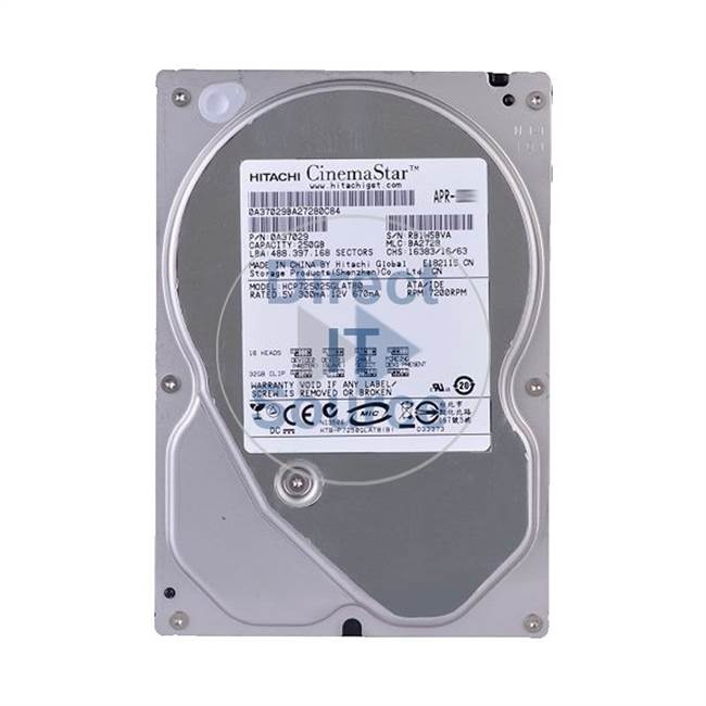 "0A37029 Hitachi - 250GB 7.2K IDE 3.5"" Cache Hard Drive"