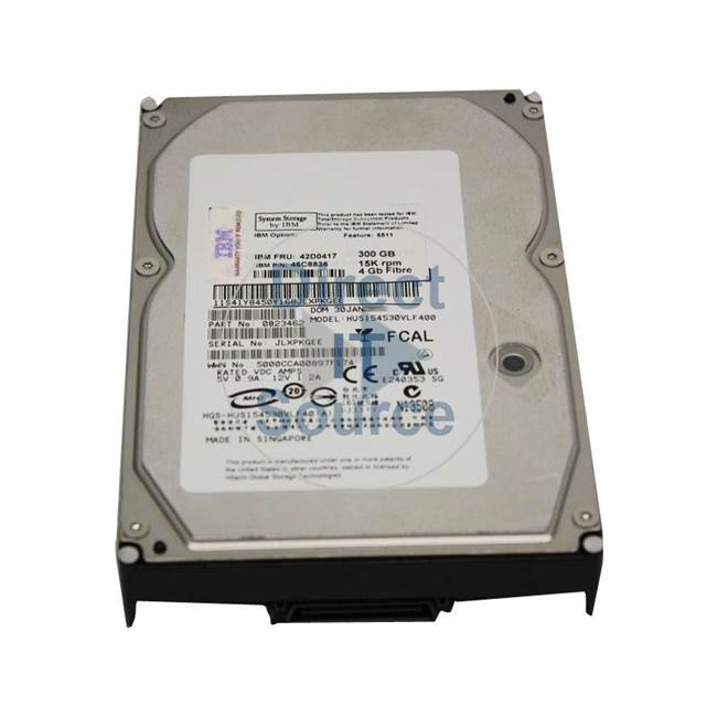 "0B23462 IBM - 300GB 15K Fibre Channel 3.5"" Cache Hard Drive"