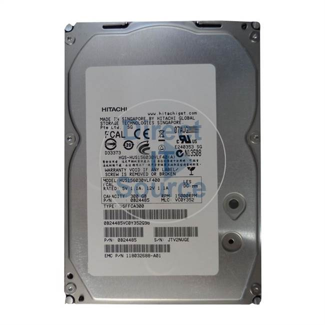 "0B24485 Hitachi - 300GB 15K Fibre Channel 3.5"" 64MB Cache Hard Drive"