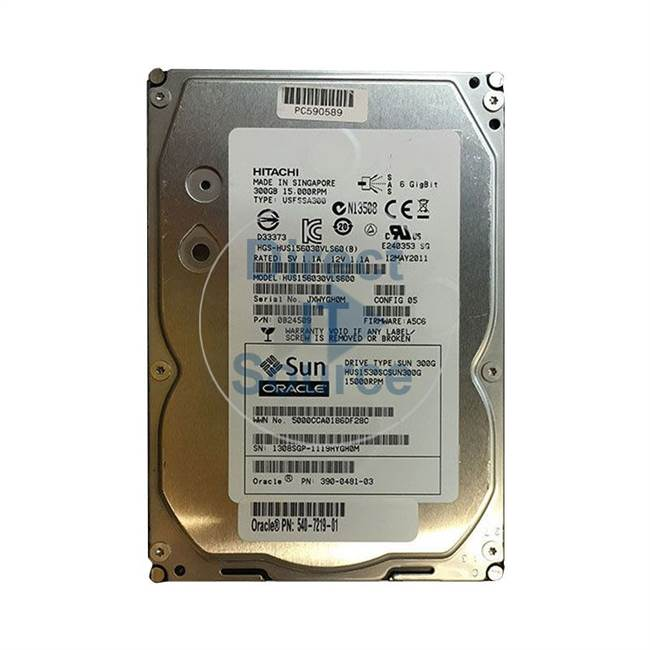 "0B24509 Hitachi - 300GB 15K SAS 3.5"" Cache Hard Drive"