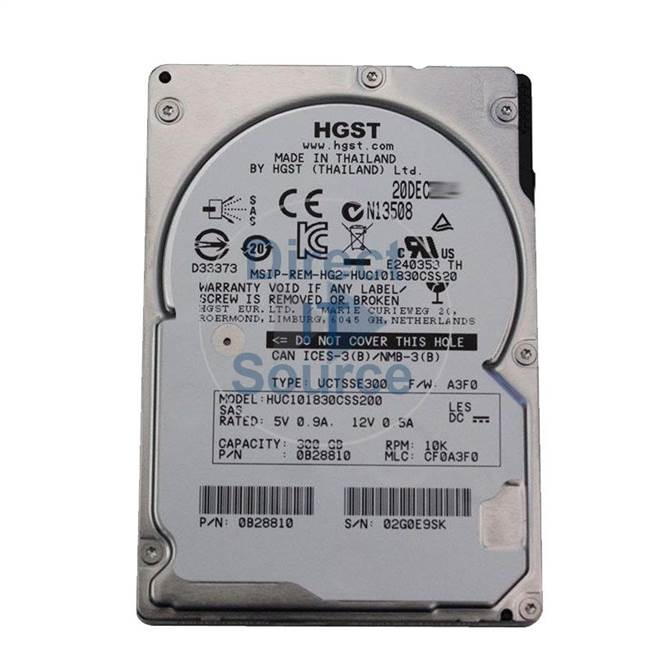 "0B28810 Hitachi - 300GB 10K SAS 2.5"" 128MB Cache Hard Drive"