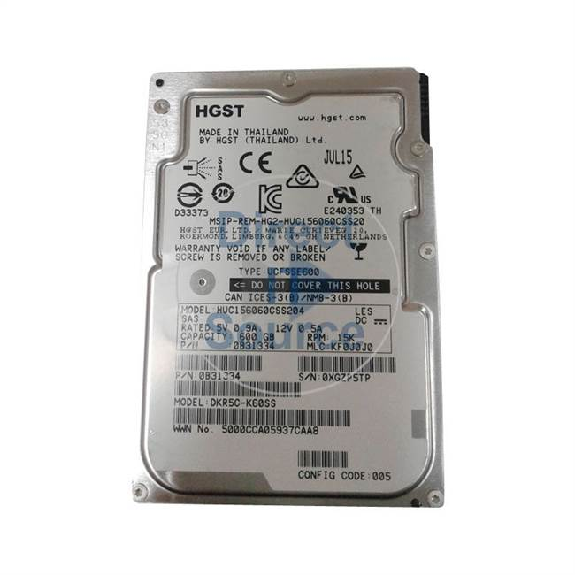 "0B31334 Hitachi - 600GB 15K SAS 2.5"" Cache Hard Drive"