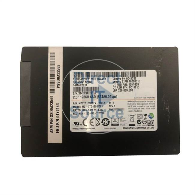 "0C41202 IBM - 128GB SATA 2.5"" Cache Hard Drive"