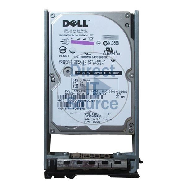 "Dell 0T855K - 147GB 10K SAS 2.5"" Hard Drive"