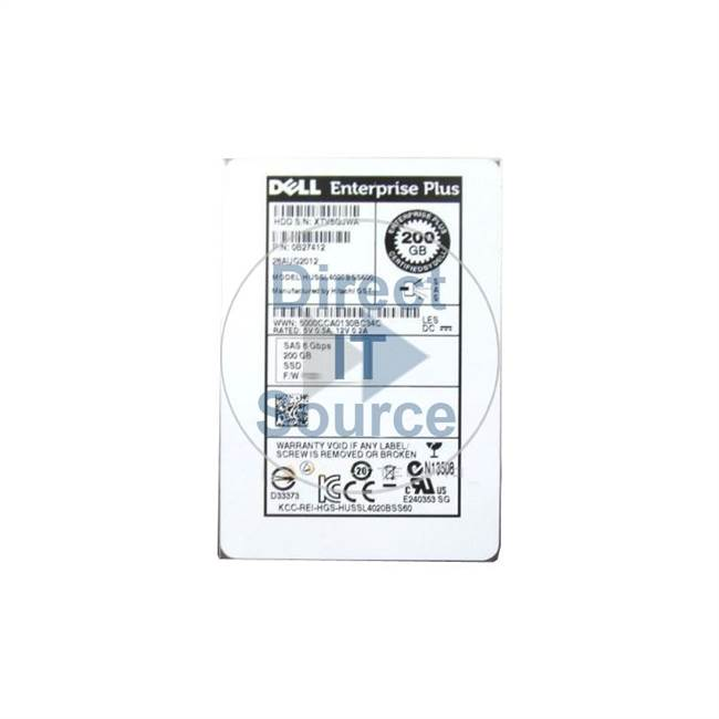 "0W4033 Dell - 200GB 2.5"" Cache Hard Drive"
