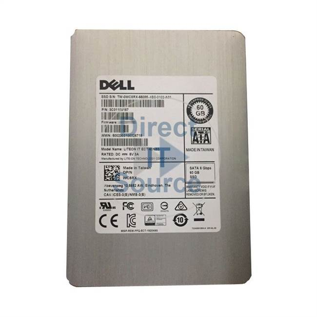 "0WC8RX Dell - 60GB SATA 6.0Gbps 3.5"" Cache Hard Drive"