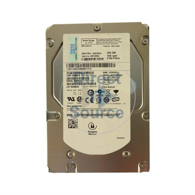 "1812-4401 IBM - 300GB 15K Fibre Channel 3.5"" Cache Hard Drive"