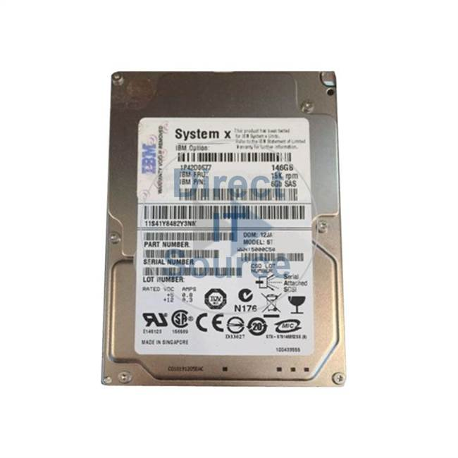 "2076-3251 IBM - 146GB 15K 2.5"" Cache Hard Drive"