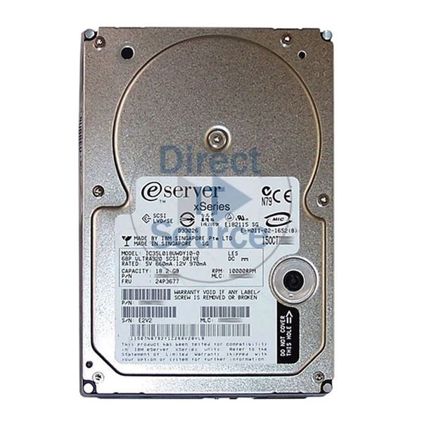 "IBM 24P3677 - 18GB 10K 68-PIN Ultra-320 SCSI 3.5"" Hard Drive"