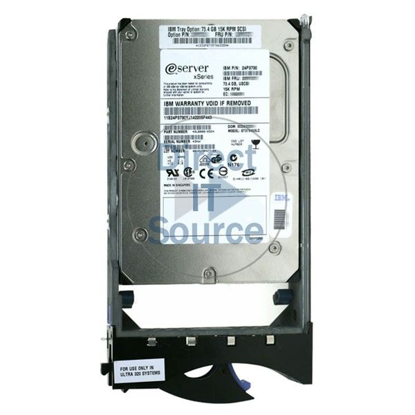 "IBM 24P3730 - 73.4GB 15K 80-PIN Ultra-320 SCSI 3.5"" Hard Drive"