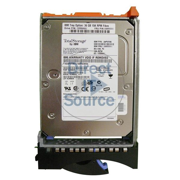 "IBM 24P3735 - 36.4GB 15K Fibre Channel 3.5"" Hard Drive"