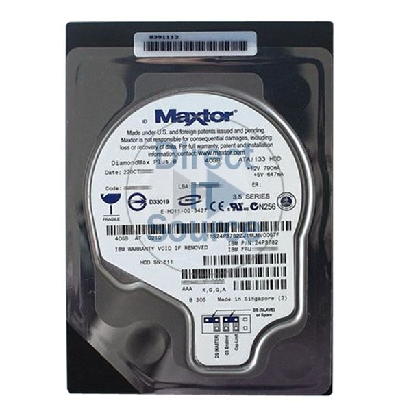 "IBM 24P3782 - 40GB  IDE 3.5"" Hard Drive"