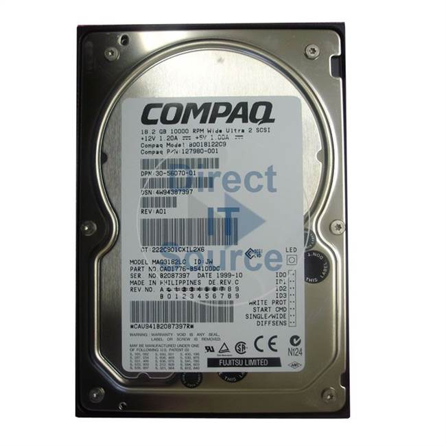 DEC 30-56070-01 - 18GB 10000RPM WIDE Ultra-2 SCSI Hard Drive