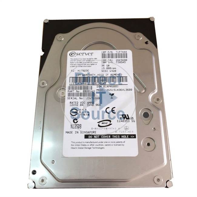 "3277-702X IBM - 36GB 15K 80-Pin SCSI 3.5"" Cache Hard Drive"